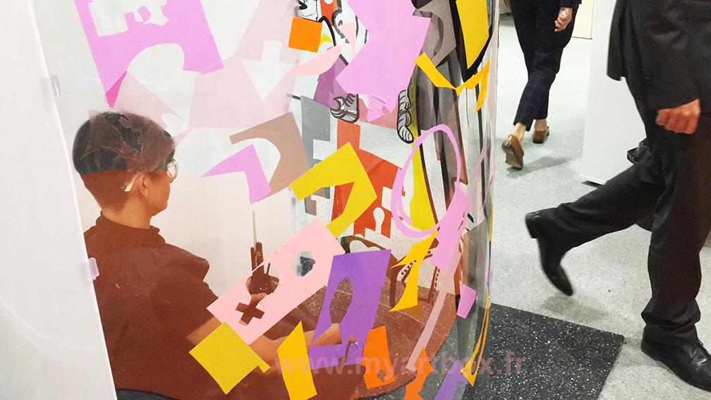 fresque cylindrique animation inauguration