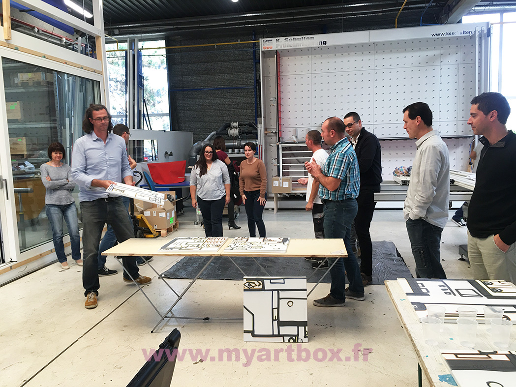fresque animation team building peinture