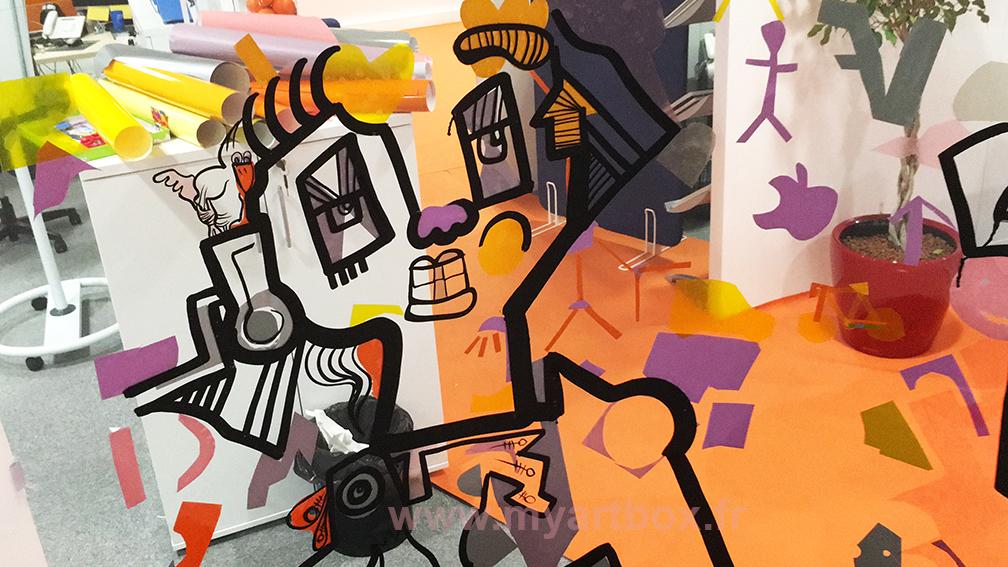 fresque participative animation tube