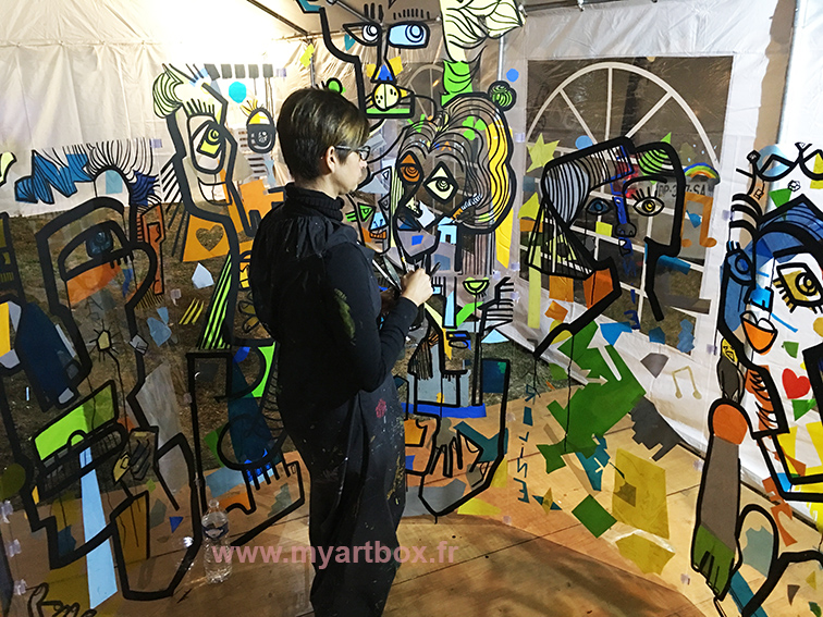 aNa fresque cylindrique animation garden party