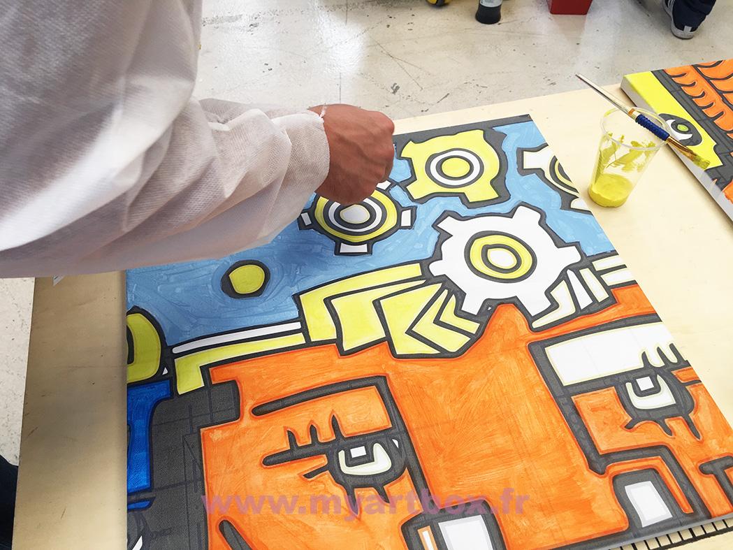 toile peinture animation team building