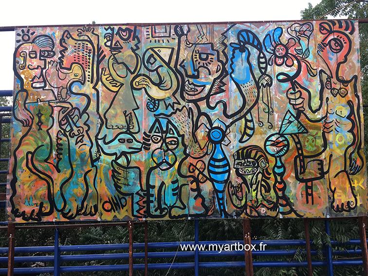 animation street art avec peinture