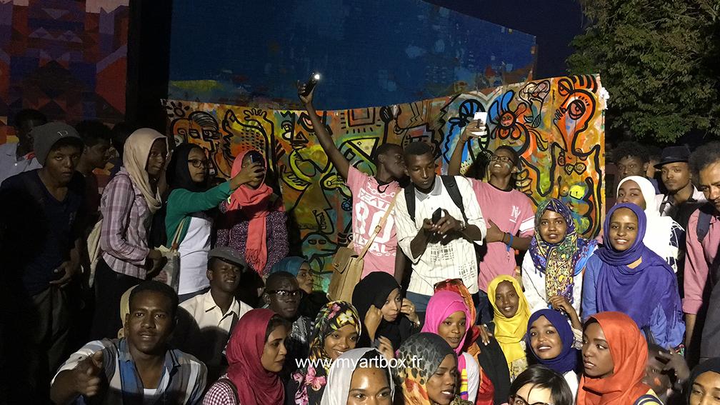 population Soudan street artiste