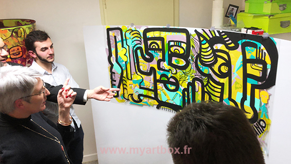 animation fresque en team building