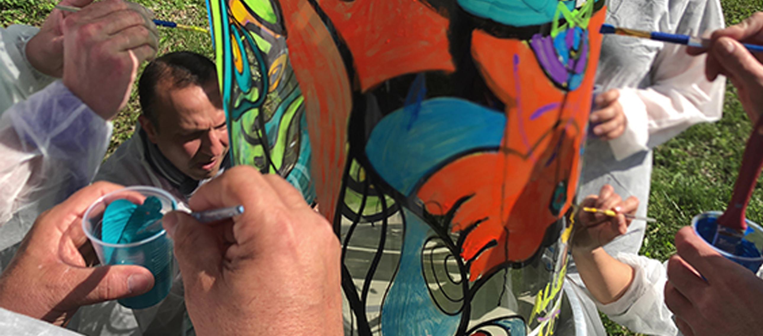 fresque team building peinture